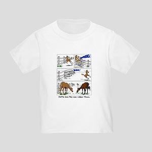 Rubber Horse Fence Cartoon Toddler T-Shirt