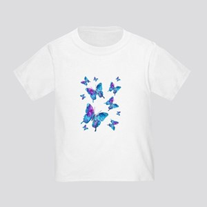 Electric Blue Butterfly Flurry Toddler T-Shirt