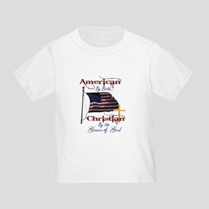 American by Birth Christian By Grace of God Toddle
