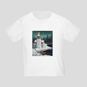 Christmas Lighthouse Toddler T-Shirt
