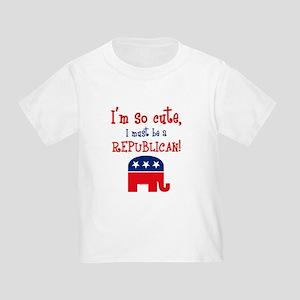 So Cute Republican Toddler T-Shirt