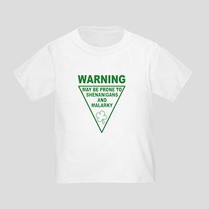 Warning Shenanigans and Malar Toddler T-Shi