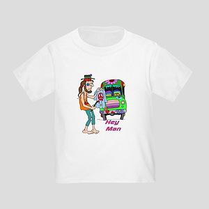 Hey Man- Hippie & Van Toddler T-Shirt
