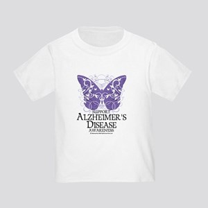 Alzhimers Butterfly 4 Toddler T-Shirt