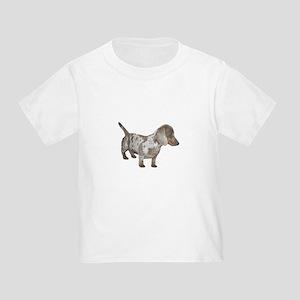 Speckled Dachshund Dog Toddler T-Shirt