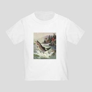 Vintage Fishing, Rainbow Trout T-Shirt