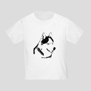 Siberian Husky Sled Dog Toddler T-Shirt