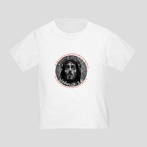 John 3:16 (3x3 badge) Toddler T-Shirt