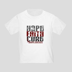 Hope Faith Cure Amyloidosis Toddler T-Shirt