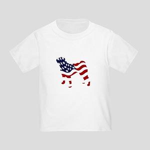 Patriotic Pug - Toddler T-Shirt
