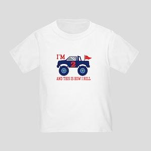 2nd Birthday Monster Truck Toddler T-Shirt