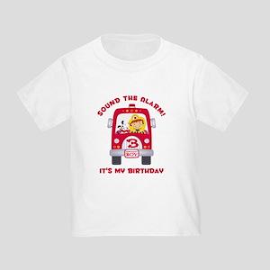 Fire Truck 3rd Birthday Boy Toddler T-Shirt