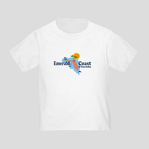 Emerald Coast FL - Map Design Toddler T-Shi