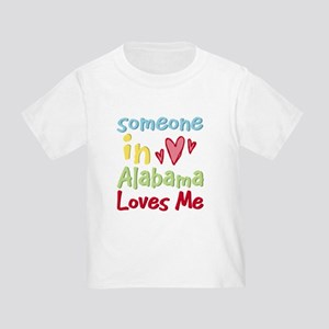 Someone in Alabama Loves Me Toddler T-Shirt