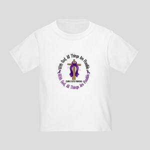 With God Cross Cystic Fibrosis Toddler T-Sh