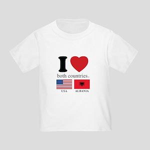 USA-ALBANIA Toddler T-Shirt