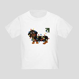 Dachshund (Blk/Tan)... Toddler T-Shirt