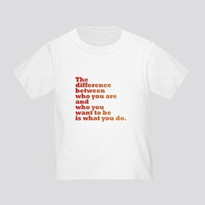 The Difference (red/orange) Toddler T-Shirt