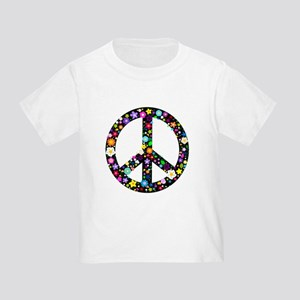 Hippie Flowery Peace Sign Toddler T-Shirt
