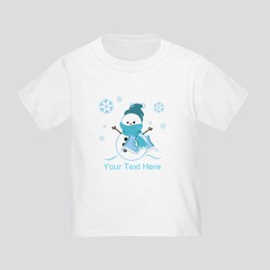 Cute Personalized Snowman Toddler T-Shirt