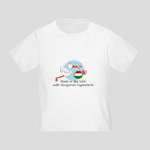 Stork Baby Hungary USA Toddler T-Shirt