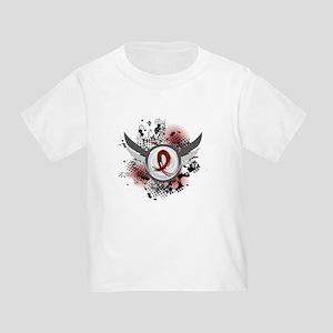 Grunge Ribbon Wings Amyloidosis Toddler T-Shirt