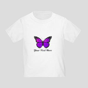 Purple Butterfly Custom Text Toddler T-Shirt