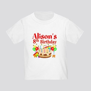 HAPPY 8TH Toddler T-Shirt