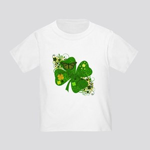 Fancy Irish 4 leaf Clover Toddler T-Shirt