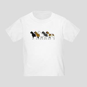 Group O' Akitas Toddler T-Shirt