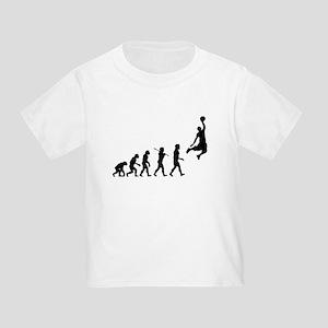 Basketball Evolution Jump Toddler T-Shirt