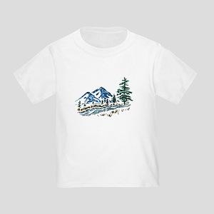 Sketch Mountain Scene T-Shirt