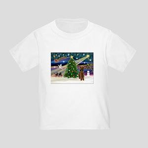 Xmas Magic & Airedale (#1) Toddler T-Shirt
