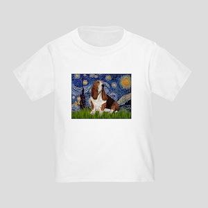 Starry Night Basset Toddler T-Shirt