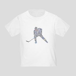 Hockey Player Typography Toddler T-Shirt