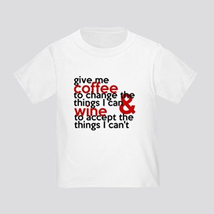 Give Me Coffee And Wine Humor Toddler T-Shirt