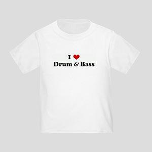 I Love Drum & Bass Toddler T-Shirt