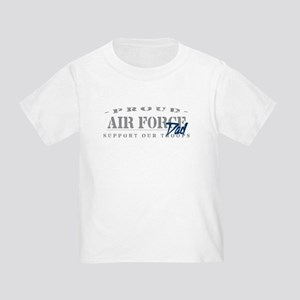 Proud Air Force Dad (Blue) Toddler T-Shirt