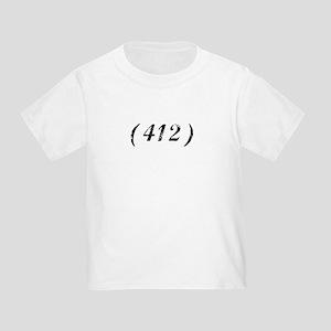 Area Code 412 PA T-shirts Toddler T-Shirt