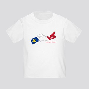 Acadian Flag Nova Scotia Toddler T-Shirt