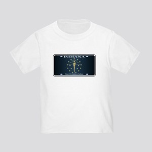 Indiana Flag License Plate T-Shirt