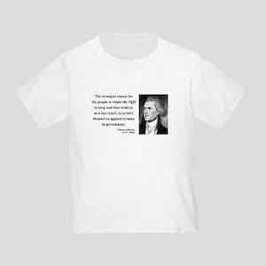 Thomas Jefferson 7 Toddler T-Shirt