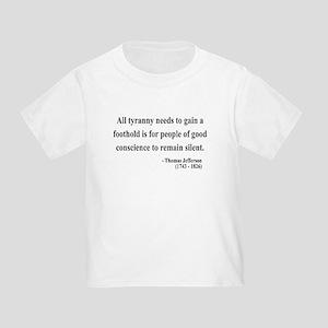 Thomas Jefferson 4 Toddler T-Shirt
