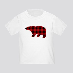 lumberjack buffalo plaid Bear T-Shirt