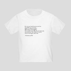 Heraclitus Quote Toddler T-Shirt