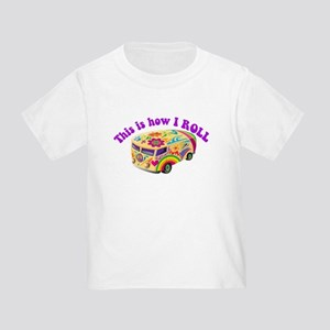 How I Roll (Hippie Van) Toddler T-Shirt