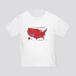 Trump vs Clinton Map Toddler T-Shirt
