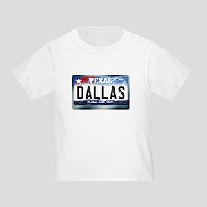 Texas License Plate [DALLAS] Toddler T-Shirt