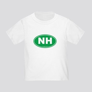 New Hampshire NH Euro Oval Toddler T-Shirt