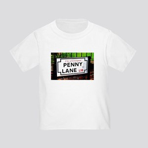 Penny Lane liverpool England Sign with mus T-Shirt